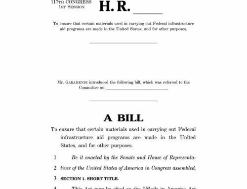 Rep. John Garamendi and U.S. Senators Tammy Baldwin and Mike Braun Reintroduce Made in America Act